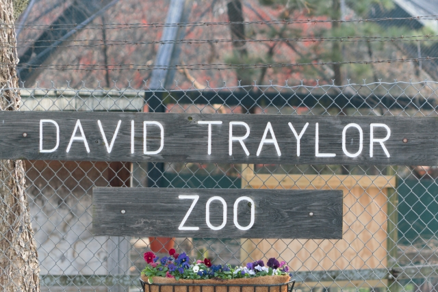 The entrance to David Traylor Zoo